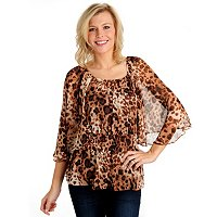 Kate & Mallory Cheetah Print Blouse