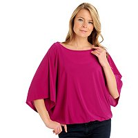 Kate & Mallory Dolman Sleeve Creepe Top