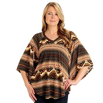 710-788 - Kate & Mallory Stretch Knit Flutter Sleeved V-Neck Tunic