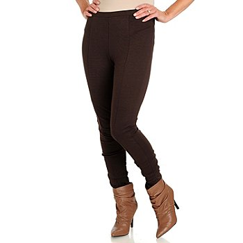 710-792 - Kate & Mallory Stretch Ponte Tapered Leg Detailed Seam Pants