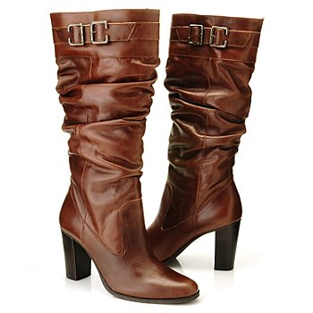710-799 - Matisse® Leather ''Penny'' Buckle Detailed Dress Boots