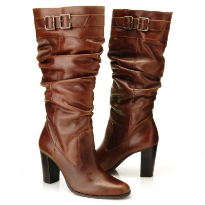 "710-799 - Matisse® Leather ""Penny"" Buckle Detailed Dress Boots"