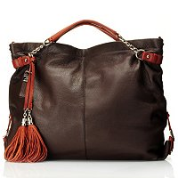 "BUXTON ""Lucca"" Leather Hobo with Tassel"