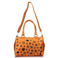 Sophisticated Style Embellished Satchel w/ Removable Shoulder Strap