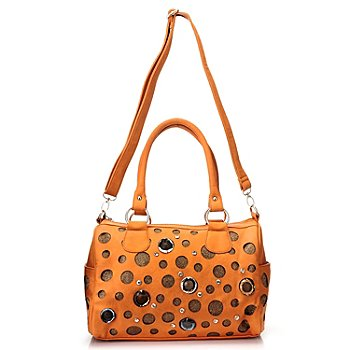 710-835 - Sophisticated Style Embellished Double Handle Satchel Handbag