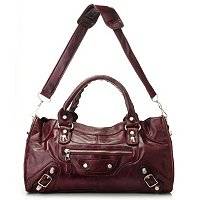 Sophisticated Style Double Handle Satchel w/ Removable Shoulder Strap