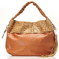 "Buxton ""Vittoria Collection"" Leather Hobo w/ Tassel"