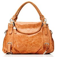 "Buxton ""Sienna Collection"" Leather Shoulder Bag w/ Double Handle"