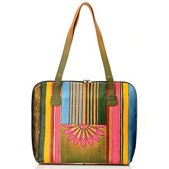 710-862 - Anuschka Hand Painted Leather Large Laptop Portfolio Bag