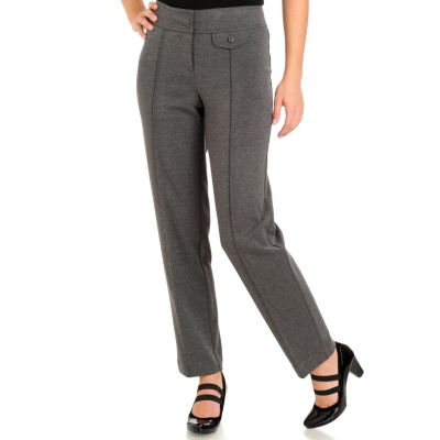 710-867 - Larry Levine Zipper Front Ponte Ankle Pants