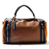 "Buxton ""Hailey"" Leather Colorblock Satchel"