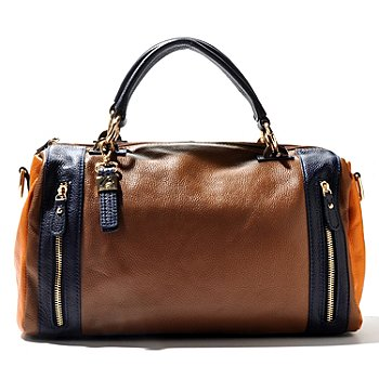 710-975 - Buxton® Leather ''Hailey'' Zip Top Satchel