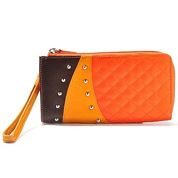 710-976 - Buxton® Leather ''Hailey'' Stud Detailed Wallet