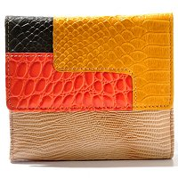 "Buxton ""Victoria"" Leather Colorblock Multi Zip Wallet"