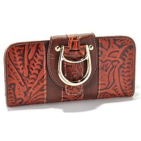 "Madi Claire ""Melissa"" Tooled Embossed Leather Wallet"