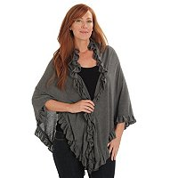 Kate & Mallory Shawl With Ruffle Detail