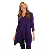 Kate & Mallory V-Neck 3/4 Sleeve Sharbite Tunic