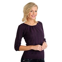 Kate & Mallory Unverted Pleat Lurex Pullover