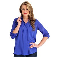 Kate & Mallory Mixed Media 2 Pocket Utility Shirt
