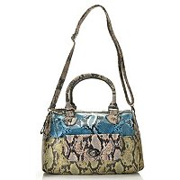 Carlos Santana Animal Print Barrel Satchel