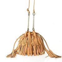 "Carlos Santana ""On the Fringe"" Drawstring Crossbody"