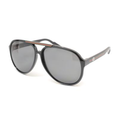 711-196 - Gucci 1627 D28 Shiny Black Unisex Designer Sunglasses