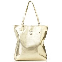 "JACK FRENCH LONDON ""METALLIC PORTBBELLO"" DOUBLE HANDLE LEATHER TOTE BAG"