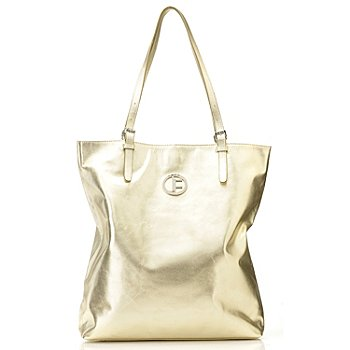 711-242 - Jack French London Metallic Leather ''Portobello'' Double Handle Tote Bag