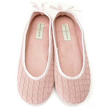 711-272 - Patricia Green ''Cassie'' Cable Knit Slippers