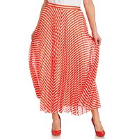 WDNY Striped Maxi Skirt