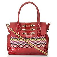 "Nicole Lee ""Sadona"" Sinched Zig Zag Cheveron Satchel"