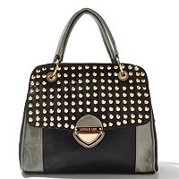 "Nicole Lee ""Yvonne"" Studded Fold Over Satchel"