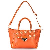 "Nicole Lee ""Yvonne"" Studded Fold Over Shopper Bag"