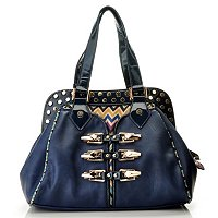 "Nicole Lee ""Sadona"" Sinched Zig Zag Cheveron Doctor Bag"