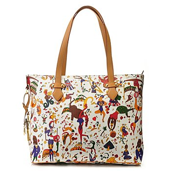 711-403 - Piero Guidi Magic Circus Double Handle Large Tote Bag