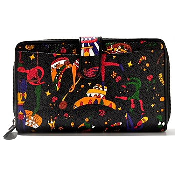 711-404 - Piero Guidi ''Magic Circus'' Snap & Zip Around Wallet