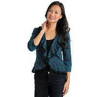 Geneology Knit Ruffle Front Jacket