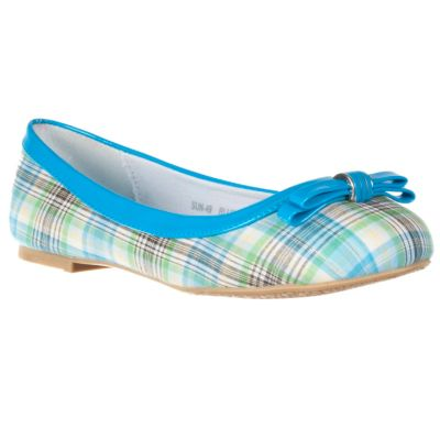 711-649 - Via Pinky by Riverberry Women's 'Sun' Bow-detail Plaid Flats