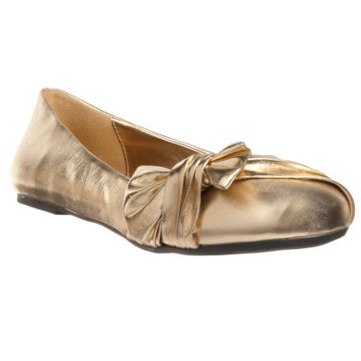 711-681 - Lasonia by Riverberry Women's 'M1202' Knot-detail Round-toe Ballet Flats