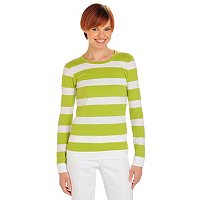 OSO Casuals Long Sleeve Crew Neck Top with Banded Hem and Sleeves