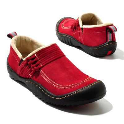"711-818 - Jambu Suede Leather ""Bar Harbor"" Sherpa Lined Slip-on Shoes"