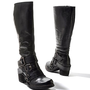 711-823 - Matisse® Leather ''Outlawed'' Buckle Detailed Tall Boots