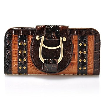 711-834 - Madi Claire Croco Embossed Leather ''Gabby'' Wallet