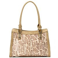 "Madi Claire ""CASANDRA"" Snake Embossed Leather Tote"