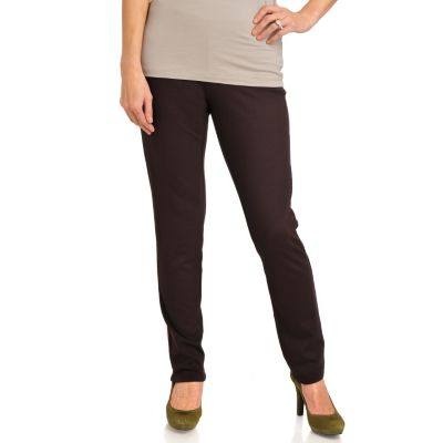 711-889 - Kate & Mallory Stretch Ponte Elastic Waist Slim Leg Pants
