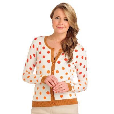 711-892 - Geneology Fine Gauge Knit Long Sleeved Shank Buttons Cardigan Sweater