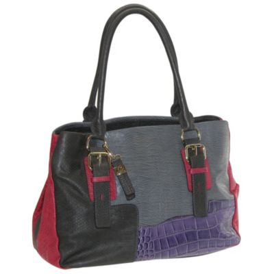 711-911 - Buxton® Victoria Leather Satchel Bag