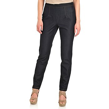711-921 - Kate & Mallory Stretch Denim Elastic Back Side Zip Slim Leg Jeggings