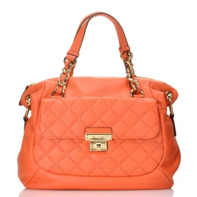 711-930 - Calvin Klein Handbags Quilted Leather Convertible Satchel