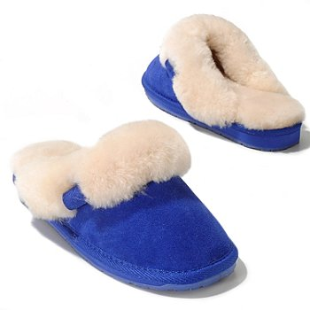 711-943 - EMU® Sheepskin & Suede Leather ''Jolie'' Slippers